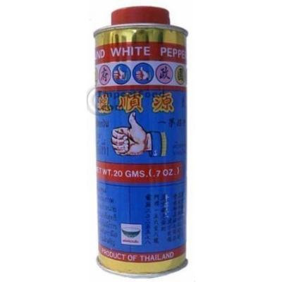 Nguan Soon Thai White Pepper Powder (Prik Thai) - 20 gram can
