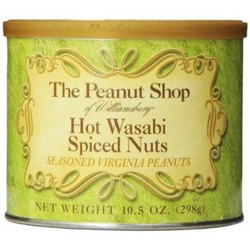 The Peanut Shop of Williamsburg Wasabi Spiced Peanuts, 10.5 Ounce