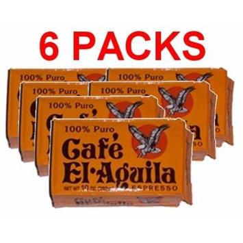 Café El Aguila 6 PACK Espresso Cuban Espresso Ground Coffee 6x250 g