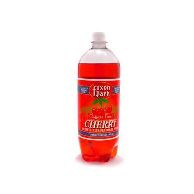 Foxon Park, Cherry Soda, 1 Liter Bottle (Case of 12)