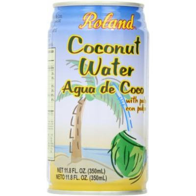 Roland Coconut Water, with Pulp, 12 Ounce (Pack of 24)