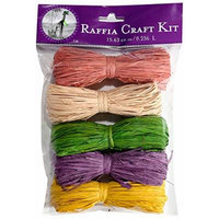 SuperMoss (40507) Raffia Craft Kit - Spring, April (Dusty Rose, Natural, Basil, Lavender, Yellow), 16 cu In. (5 Pack)