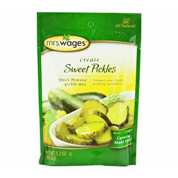 Mrs. Wages Sweet Pickle Canning Seasoning Mix, 5.3 Oz. Pouch (Pack of 2)
