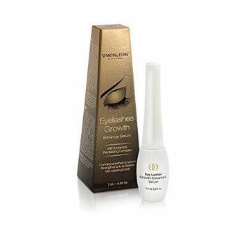 Simon & Tom Eyelashes Growth Serum with Argan Oil, Enhances Eyelash and Eyebrow Growth, for All Skin Types. 0.24oz
