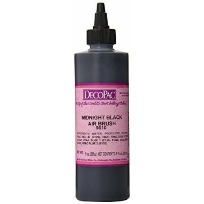 DecoPac Airbrush Color, Midnight Black, .6 Pound