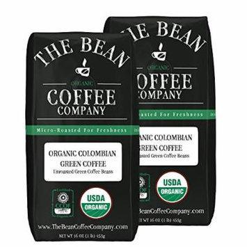 The Bean Coffee Company Organic Green Coffee Beans, Colombian, 16-Ounce