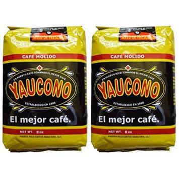 Two 14 Oz. Coffee Bags Package Puerto Rican Coffee / Cafe Yaucono De Puerto Rico 2 Bolsas 14 Oz.