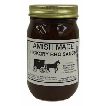 Amish Buggy BBQ Sauce, Hickory, 16 Ounce (Pack of 12)