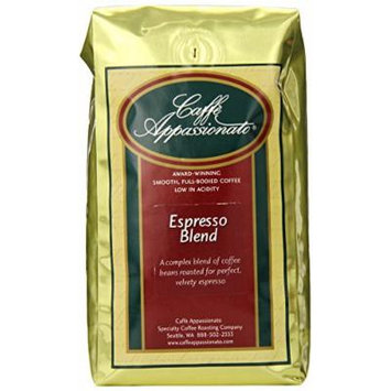 Caffe Appassionato Espresso Blend Whole Bean Coffee, 12-Ounce Bags (Pack of 3)