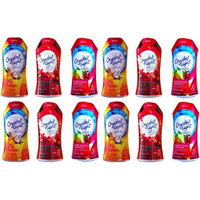 Crystal Light Liquid Variety Drink Mix 1.62 Fl Oz Tropical Coconut , Berry Sangria , Blackberry Lemonade Pack of 12