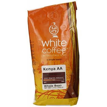 White Coffee Kenya AA (Whole Bean), 12 Ounce Package