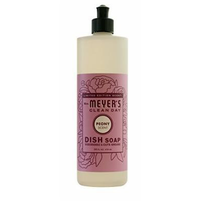 Mrs. Meyer's Clean Day Liquid Dish Soap, Peony, 16.0 Fluid Ounce