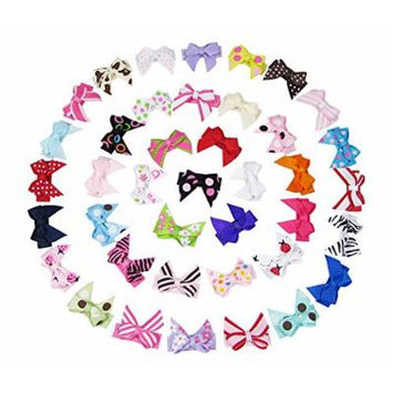 Hipgirl Girls Hair Bow Snap Clips, Barrettes (40pc 1