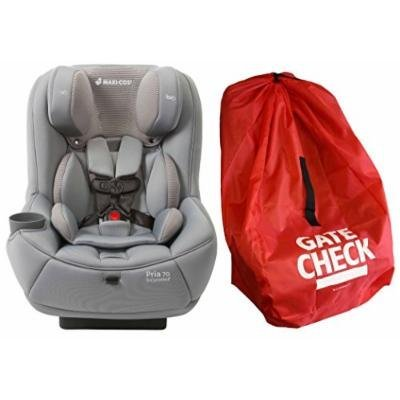 Maxi-Cosi Pria 70 Convertible Car Seat with Easy Clean Fabric and Gate Check Bag, Grey Gravel