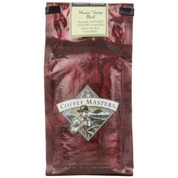 Coffee Masters Gourmet Coffee, Masters' Vintage Blend, Ground, 12-Ounce Bags (Pack of 4)