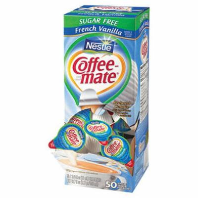 SCS Nestlé Coffee-mate - Creamer Tubs, French Vanilla (Sugar Free) - 50 Count