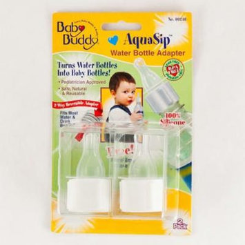 Baby Buddy AquaSip Water Bottle Adapter 2pk - Drink Bottles 100% Silicone Nipple