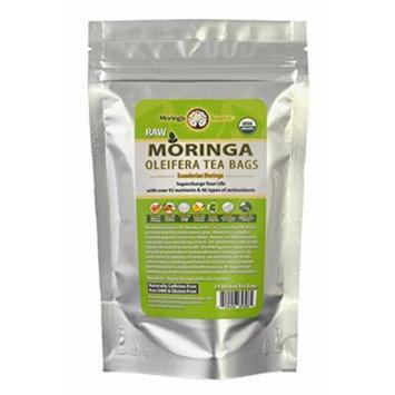 Moringa Tea - Pomegranate - USDA Organic - 24 Potent Tea Bags - Antioxidant Rich Energy Booster