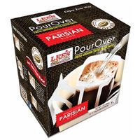 Lee's Coffee Pourover Fresh Ground Filter Packs, Parisian, 8 Count (Pack of 22)