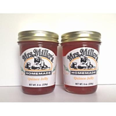 Mrs. Miller's Amish Homemade Quince Jelly 8 oz - Pack of 2 (Boxed)