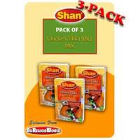Shan Chicken Tikka BBQ Mix Masala Seasoning 1.75oz., 50g (3-Pack) Free Recipe Included Exclusive From AllRegionWorld