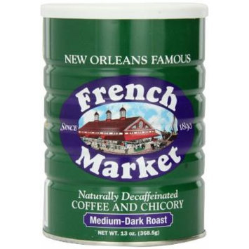 French Market Coffee & Chicory Decaffeinated, 12 Ounce Cans (Pack of 3)
