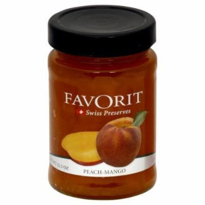 Favorit Preserves Peach 12.30-Ounce (Pack Of 6)