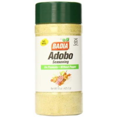 Badia Adobo without Pepper, 15 Ounce (Pack of 12)