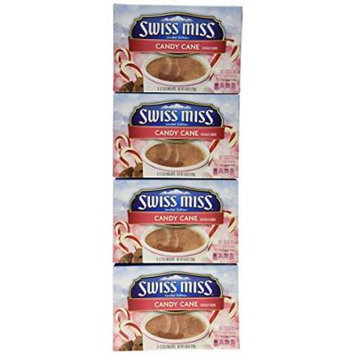 Swiss Miss Candy Cane Hot Cocoa Mix - 6 Packs Per Box (Pack of 4)