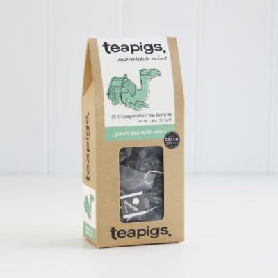 Teapigs Whole Leaf Tea (Green Tea with Mint, 15 temples)