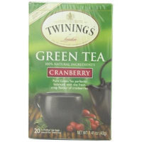 Twinings Green & Cranberry Tea 20-Count Tea Bags (Pack Of 6)