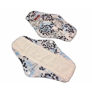 4 Bamboo Mama Cloth/ Menstrual Pads/ Reusable & Water proof Sanitary Pads / Panty Liners - PRINTS (Wildflowers)