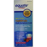 Children's Multi-Symptom Cold, Very Berry Flavor, 4oz, By Equate, Compare to Children's Mucinex Multi-Symptom Cold