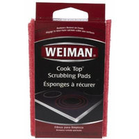 Weiman Cook Top Scrubbing Pads, 3 Pads Each (Pack of 3)