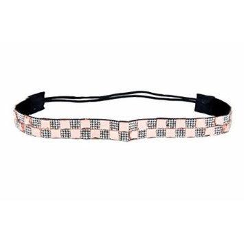 Bohemian Pattern Elastic Stretch Seed Bead, Fabric, Lace Headbands (Crystal Headband_M)