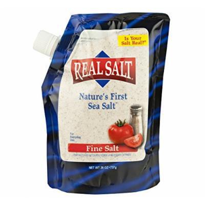 Real Salt - Natural Fine Sea Salt, 26 Oz. Refill Pouch (Pack of 2)