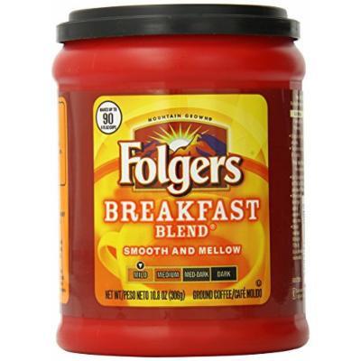 Folgers Breakfast Blend Ground Coffee, 10.8 oz
