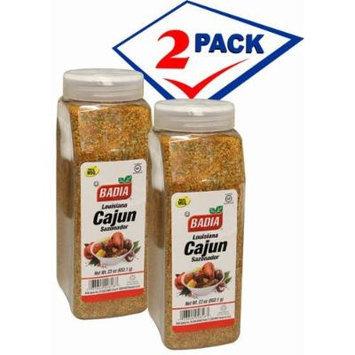 Badia Louisiana Cajun Seasoning Blend powder. 2 Large container 23 oz