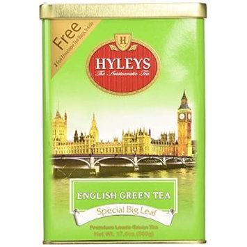 HYLEYS Tea English Green Tea, 17.6 Ounce