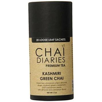 Chai Diaries Kashmiri Green Chai, 20 Count (Pack of 6)