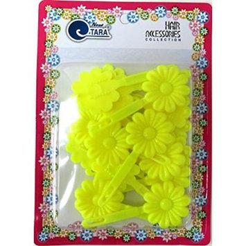 [TARA] Hair Barrette - Neon Yellow