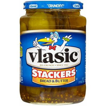 Vlasic Stackers Bread & Butter Mildly Sweet & Spicy Pickles 24 oz