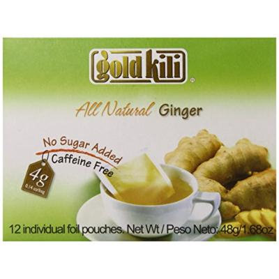 Gold Kili All Natural Ginger Beverage Brewing Bags, 1.68-Ounce Boxes (Pack of 6)