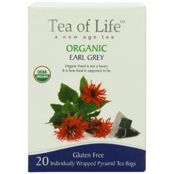Tea Of Life Organic Earl, Grey, 20 Count