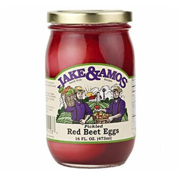 Jake & Amos Pickled Red Beet Eggs, 16 Oz. Jar (Pack of 2)
