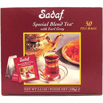 Sadaf Special Blend Tea with Earl Grey, 50-Count (Pack of 1)