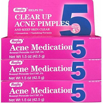 Benzoyl Peroxide 5 % Generic for Oxy Balance Acne Medication Gel 1.5 oz 3 PACK