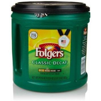 Folgers Classic Roast Decaffeinated Ground Coffee, 33.9 Oz