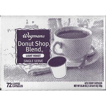 Wegman's Single Serve Coffee Capsules Case of 72 (Donut Shop Blend)