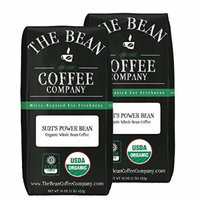 The Bean Coffee Company Suzi's Power Bean, Organic Whole Bean, 16-Ounce Bags (Pack of 2)